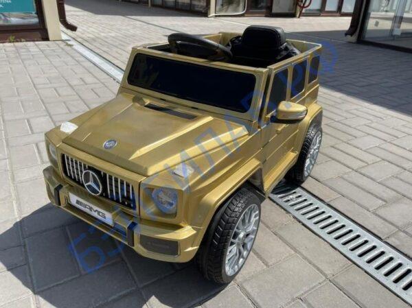 Детский электромобиль Mercedes G55 золотой - Бэйбилав.рф